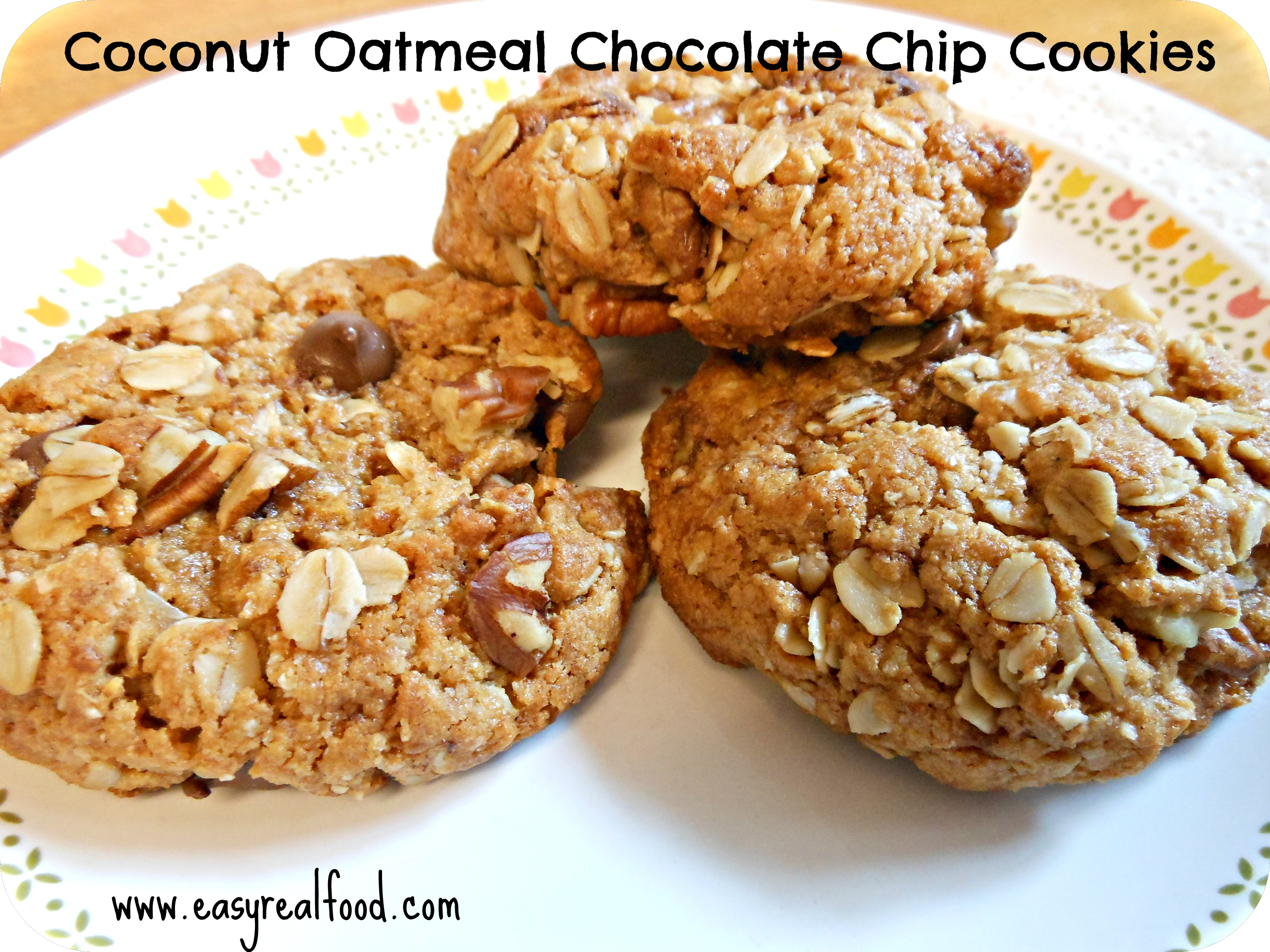 Coconut Oatmeal Chocolate Chip Cookies - Anxiety Relief For Women ...
