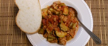 Sausage and Zucchini Stew with Homemade Sausage