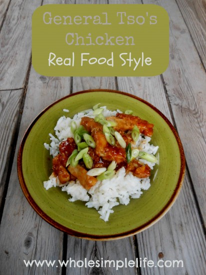 General Tso's Chicken | https://www.hannahhepworth.com #realfood #copycattakeout #chinease #generaltsos