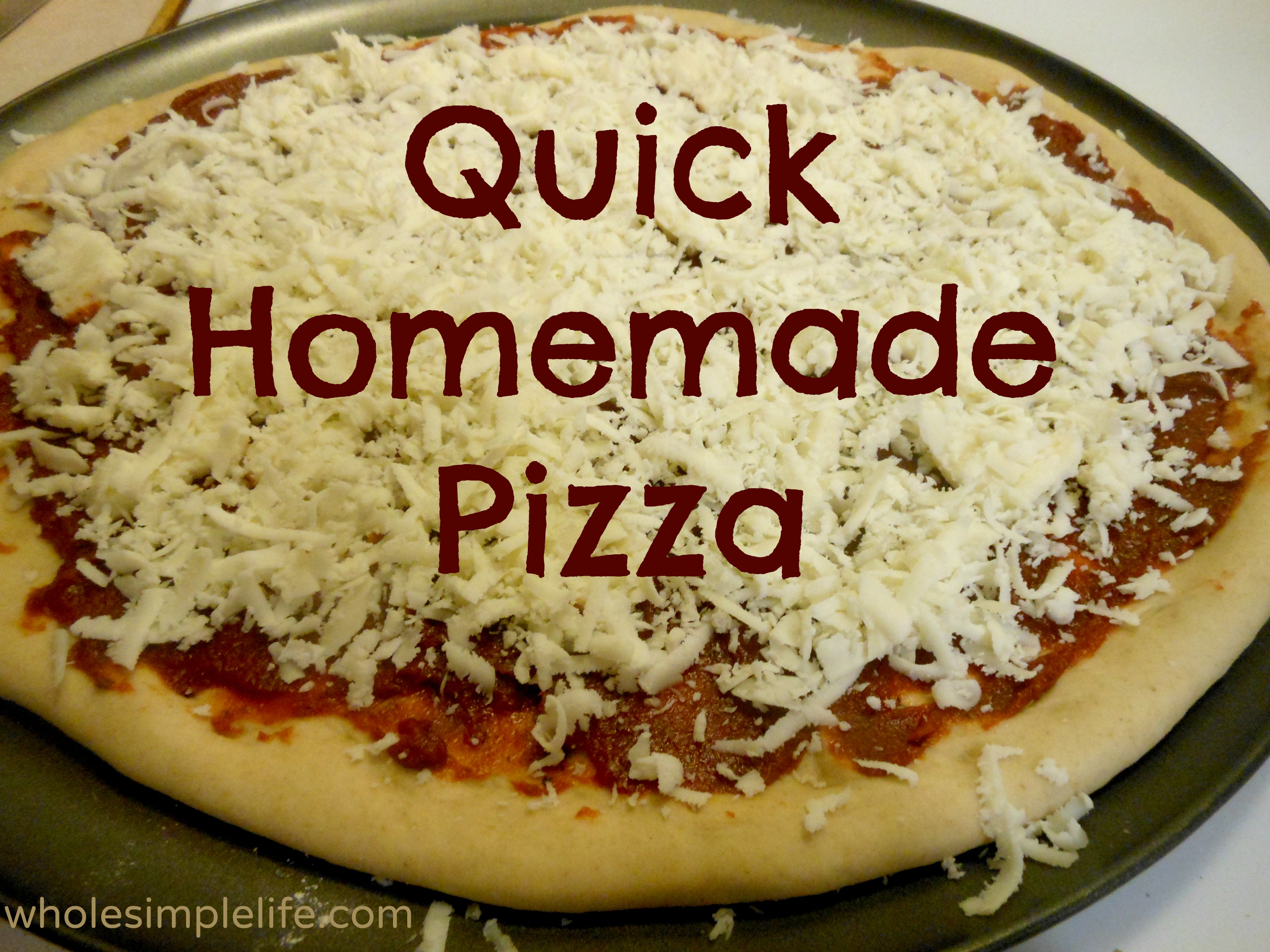 quick homemade pizza anxiety health whole foods self care for moms