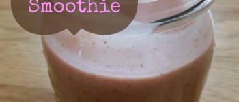 Strawberries & Cream Smoothie (date sweetened)