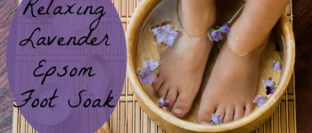 Relaxing Lavender Oil And Epsom Salt Foot Soak